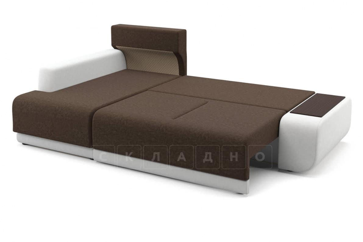 Угловой диван Соло белый левый фото 4 | интернет-магазин Складно