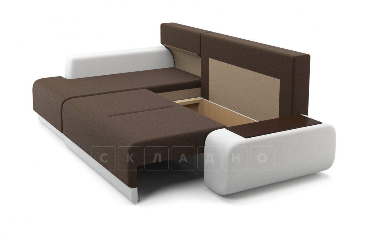 Угловой диван Соло белый левый фото 6 | интернет-магазин Складно