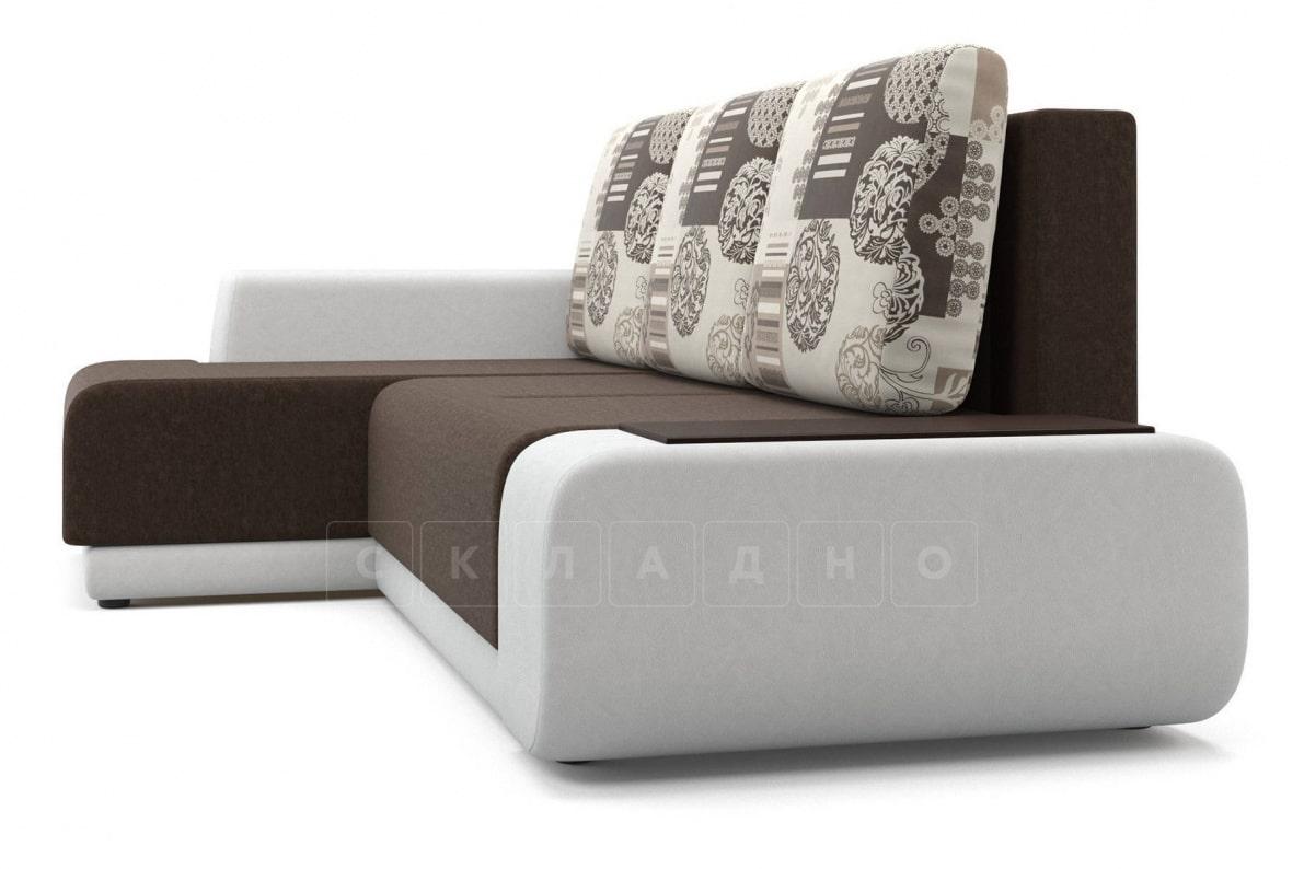 Угловой диван Соло белый левый фото 3 | интернет-магазин Складно