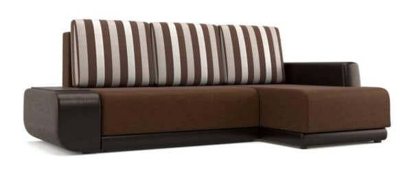 Угловой диван Соло коричневый правый фото | интернет-магазин Складно