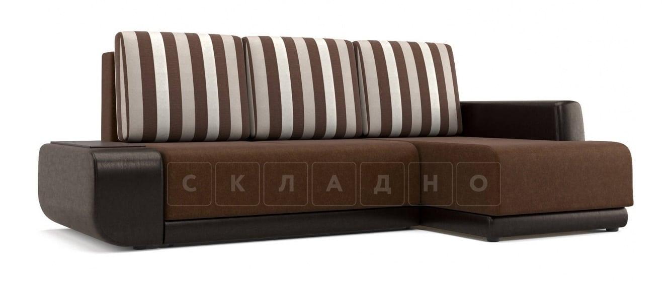 Угловой диван Соло коричневый правый фото 1 | интернет-магазин Складно