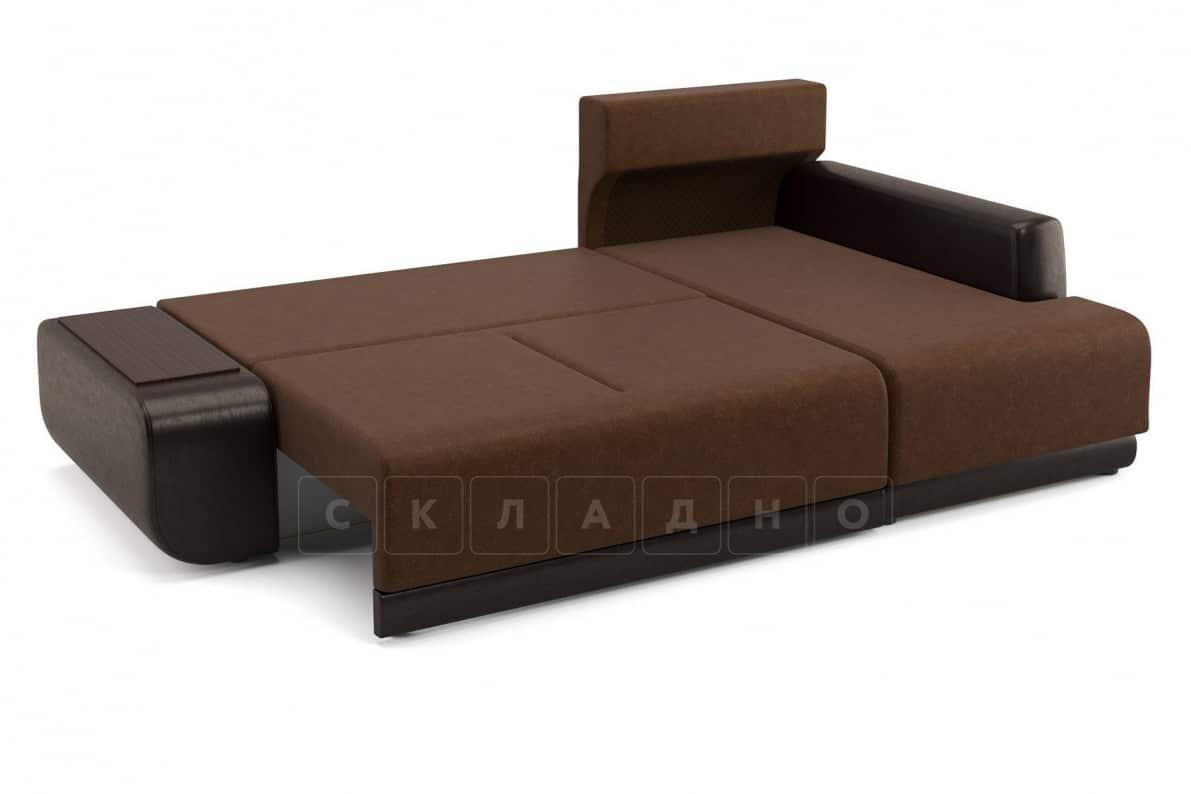 Угловой диван Соло коричневый правый фото 4 | интернет-магазин Складно