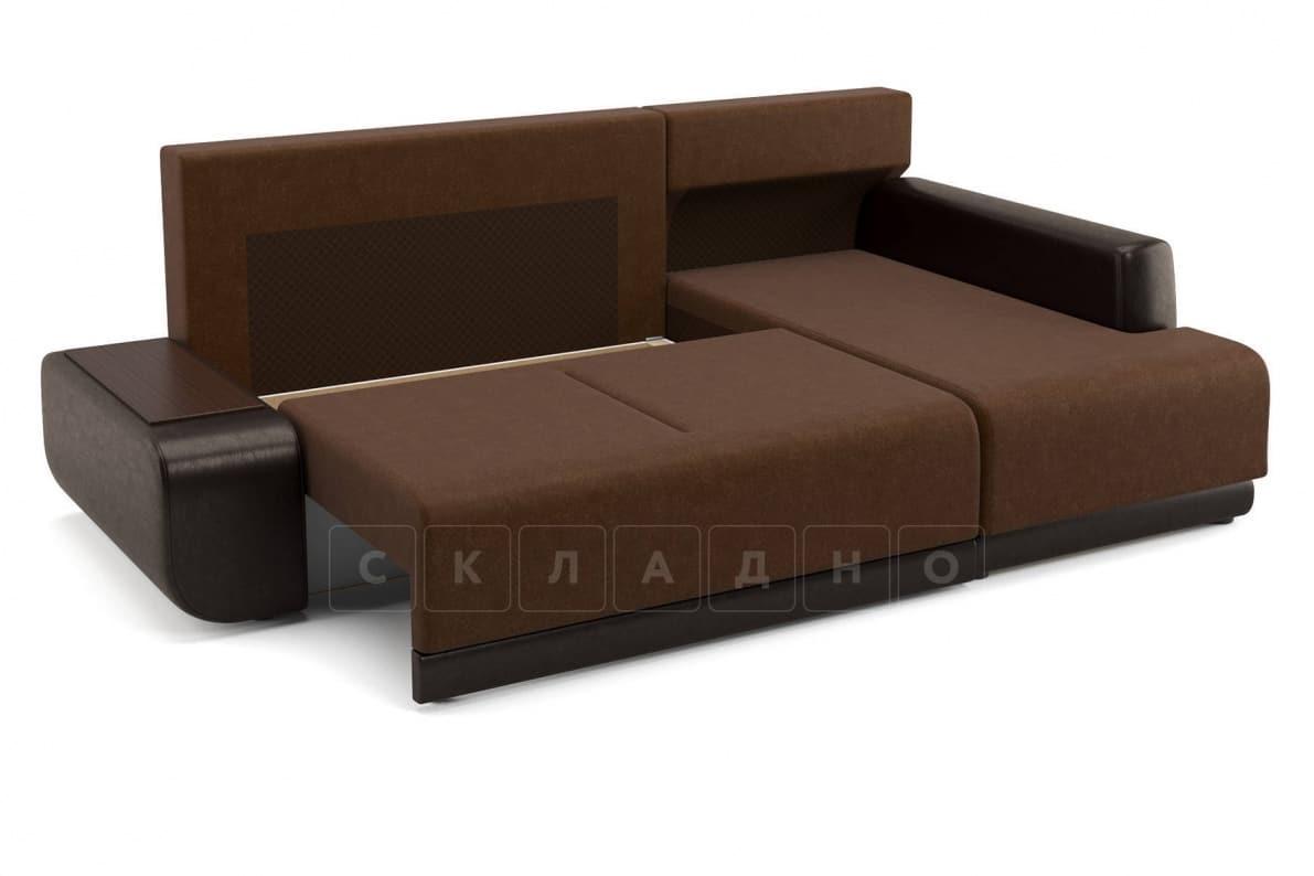 Угловой диван Соло коричневый правый фото 5 | интернет-магазин Складно