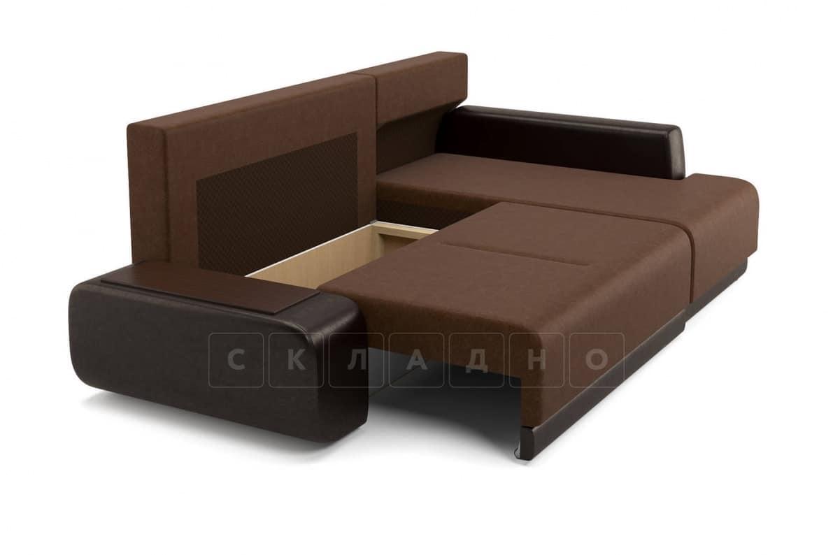 Угловой диван Соло коричневый правый фото 6 | интернет-магазин Складно