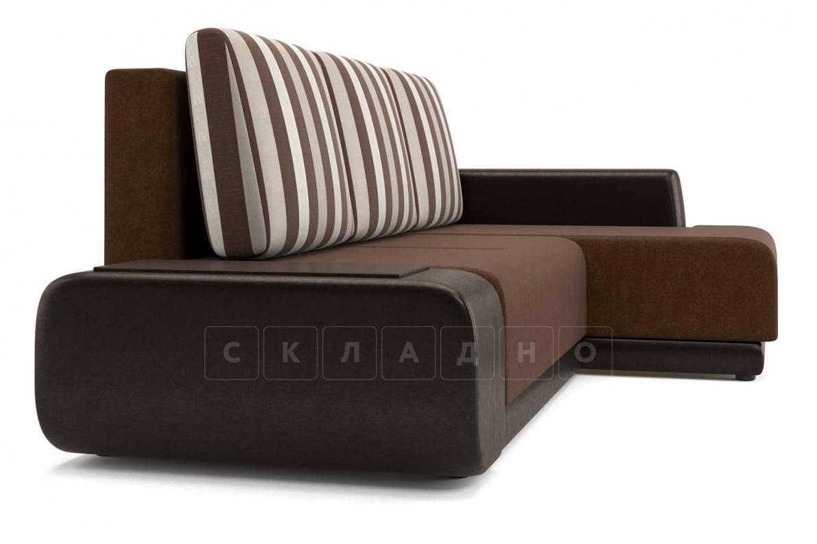 Угловой диван Соло коричневый правый фото 3 | интернет-магазин Складно