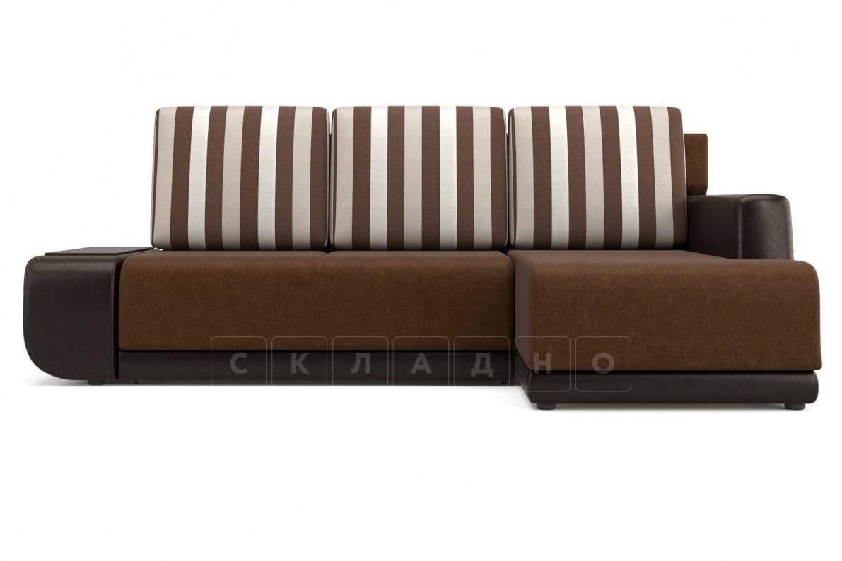 Угловой диван Соло коричневый правый фото 2 | интернет-магазин Складно