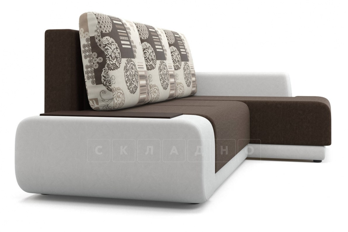 Угловой диван Соло белый правый фото 3   интернет-магазин Складно