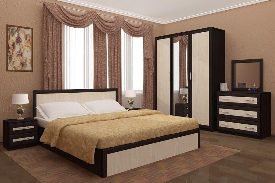 Спальный гарнитур Зиля широкий штапик фото | интернет-магазин Складно