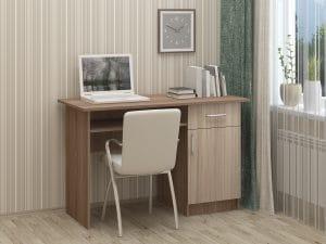Письменный стол ПС-01 с дверцей и ящиком 3790 рублей, фото 5 | интернет-магазин Складно