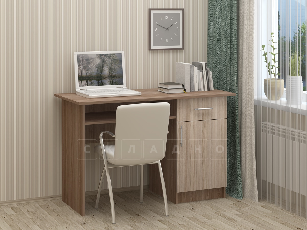 Письменный стол ПС-01 с дверцей и ящиком фото 5 | интернет-магазин Складно