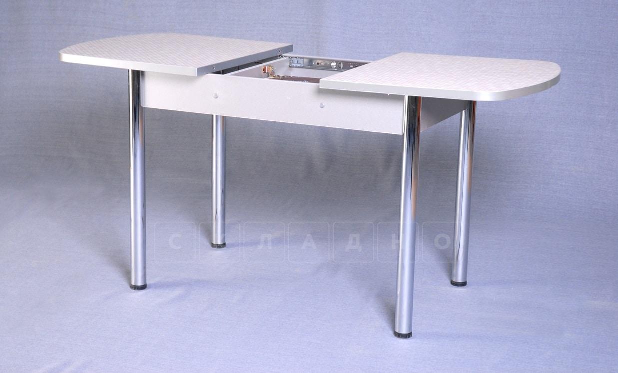 Стол обеденный раздвижной на хромированных ножках 150х70 фото 2 | интернет-магазин Складно