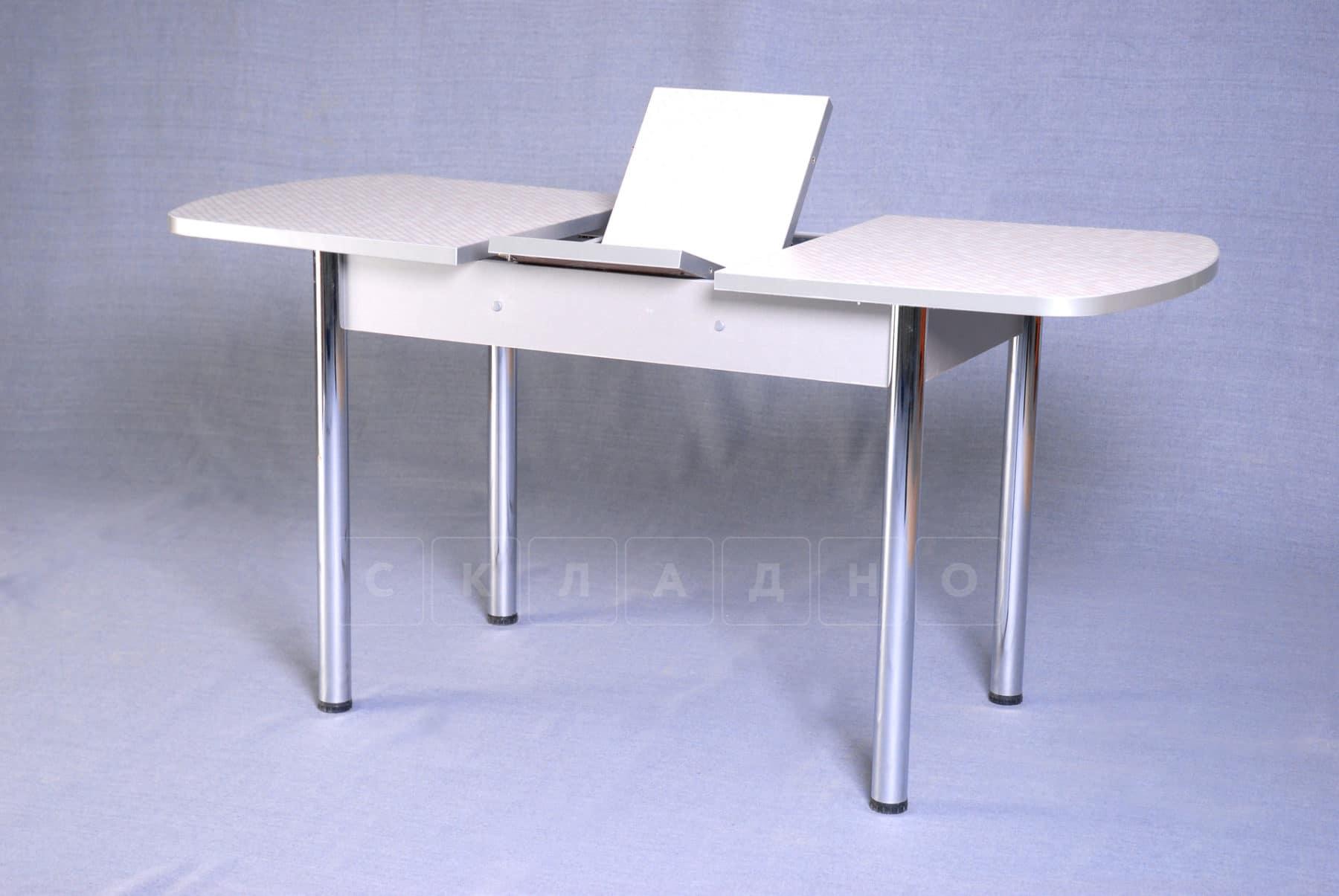 Стол обеденный раздвижной на хромированных ножках 150х70 фото 3 | интернет-магазин Складно