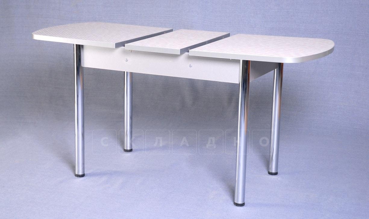 Стол обеденный раздвижной на хромированных ножках 150х70 фото 4 | интернет-магазин Складно