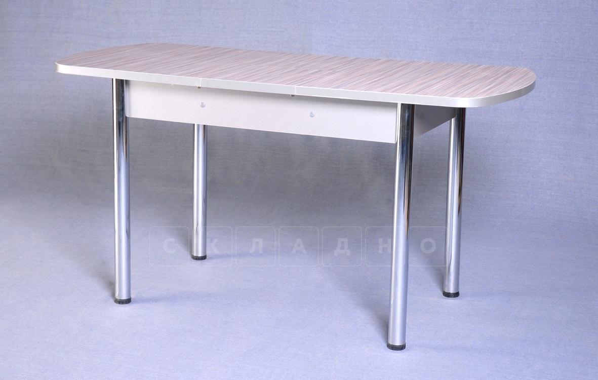 Стол обеденный раздвижной на хромированных ножках 150х70 фото 5 | интернет-магазин Складно