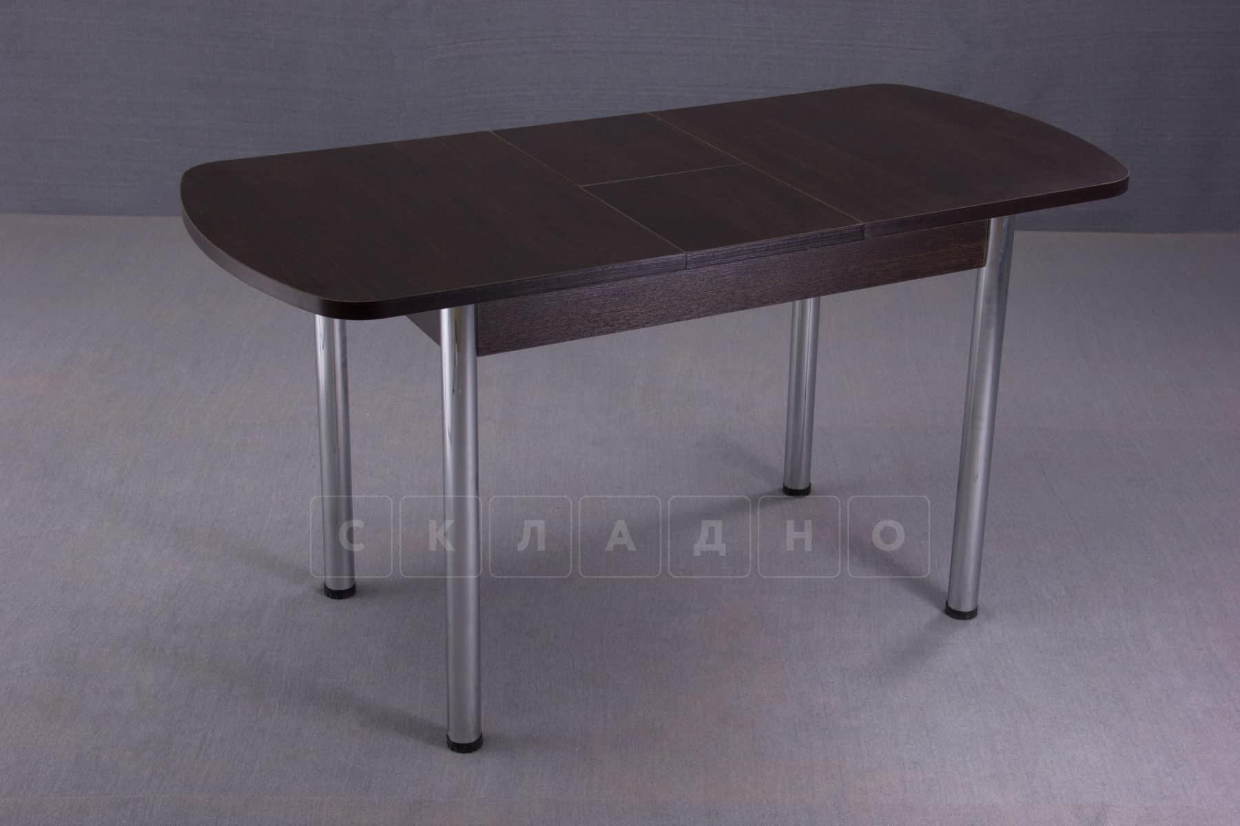 Стол обеденный раздвижной на хромированных ножках 150х70 фото 6 | интернет-магазин Складно