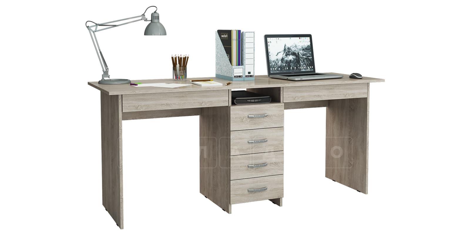 Офисный стол Кейптаун 6 ящиков фото 1 | интернет-магазин Складно