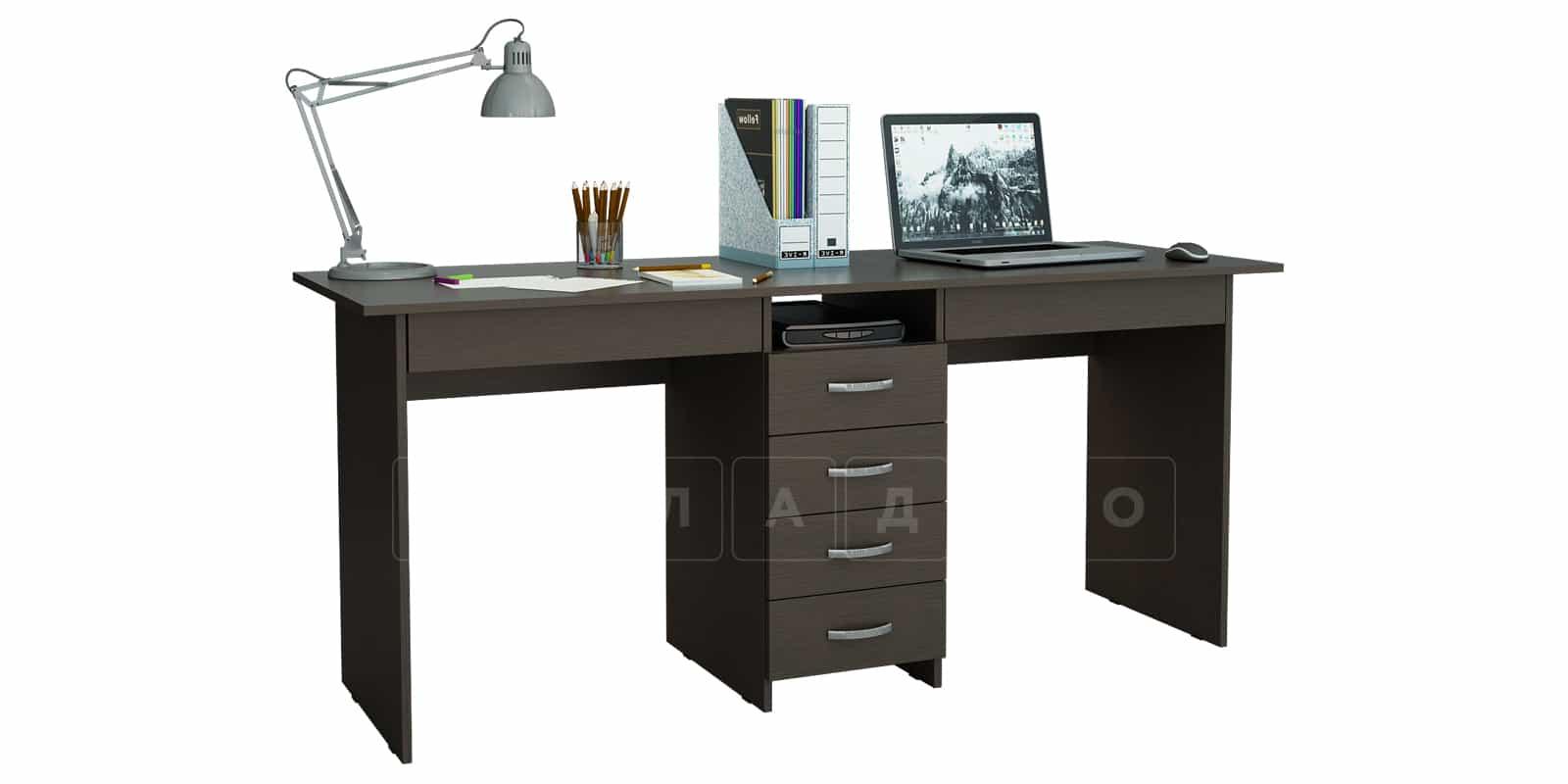 Офисный стол Кейптаун 6 ящиков фото 4 | интернет-магазин Складно