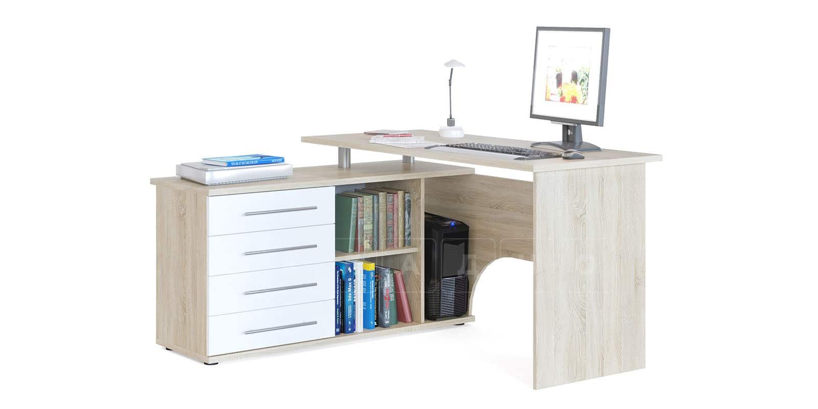 Компьютерный стол Сноу угловой дуб сонома фото 1 | интернет-магазин Складно