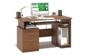 Компьютерный стол Рико орех фото | интернет-магазин Складно