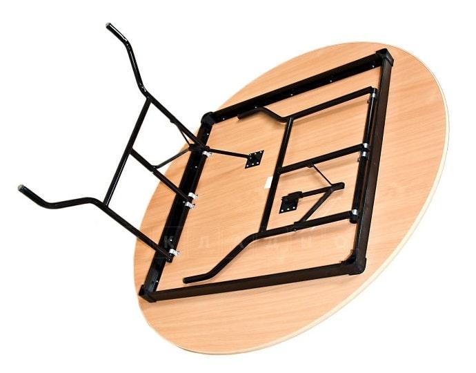 Складной стол Дельта круглый 130 х 130 см. фото 2 | интернет-магазин Складно