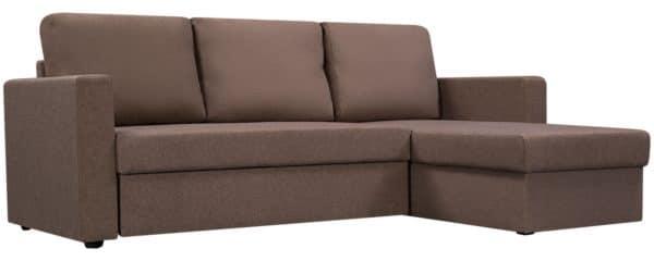 Угловой диван Турин коричневый фото | интернет-магазин Складно