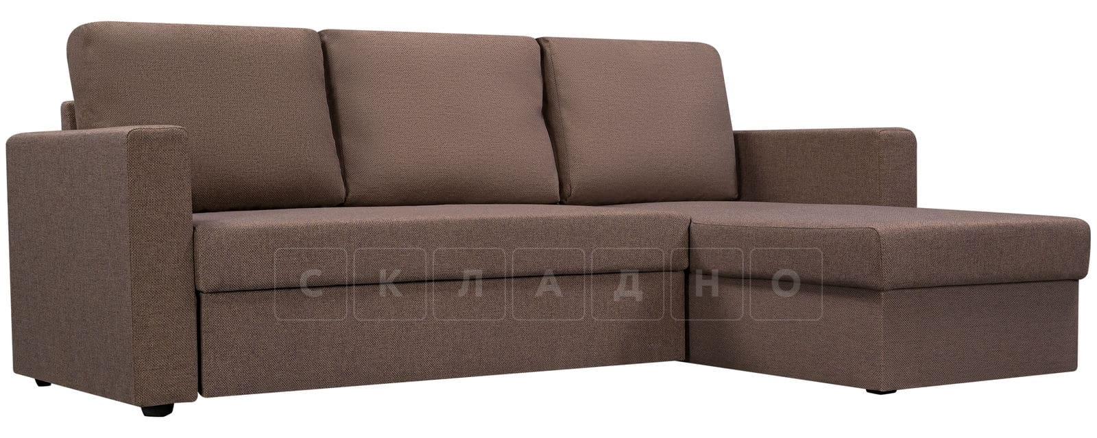 Угловой диван Турин коричневый фото 1 | интернет-магазин Складно
