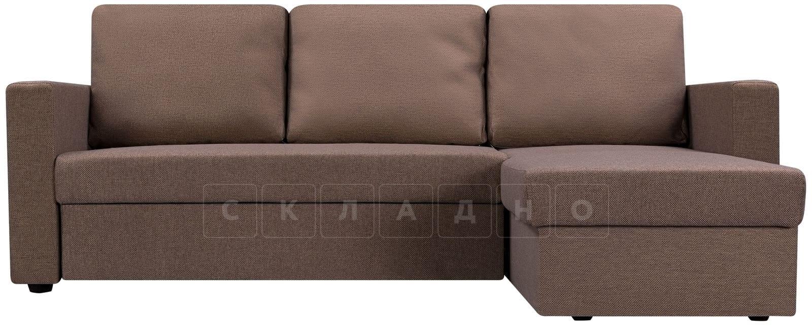 Угловой диван Турин коричневый фото 2 | интернет-магазин Складно