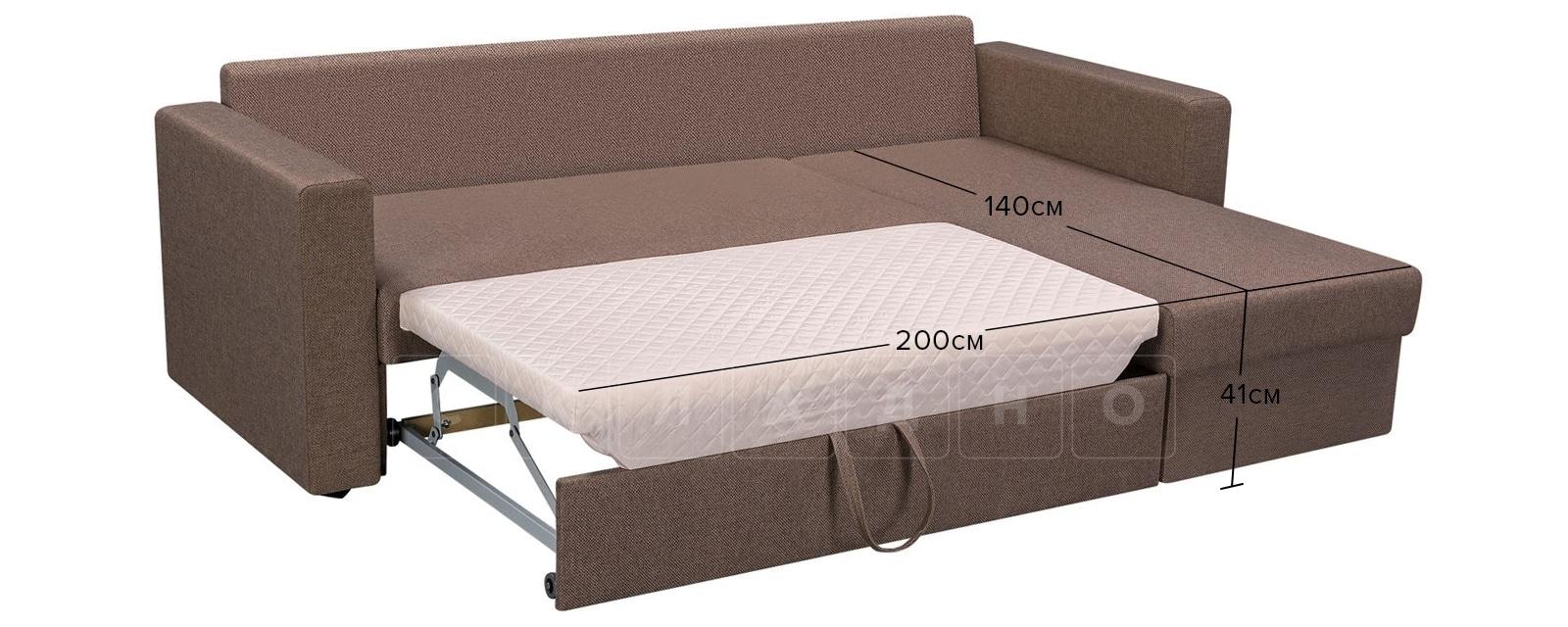 Угловой диван Турин коричневый фото 11 | интернет-магазин Складно