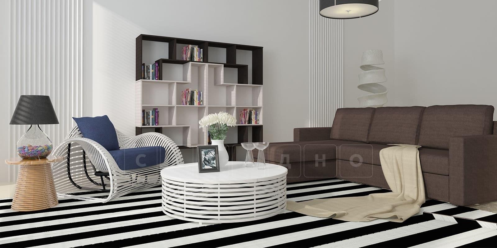 Угловой диван Турин коричневый фото 12 | интернет-магазин Складно