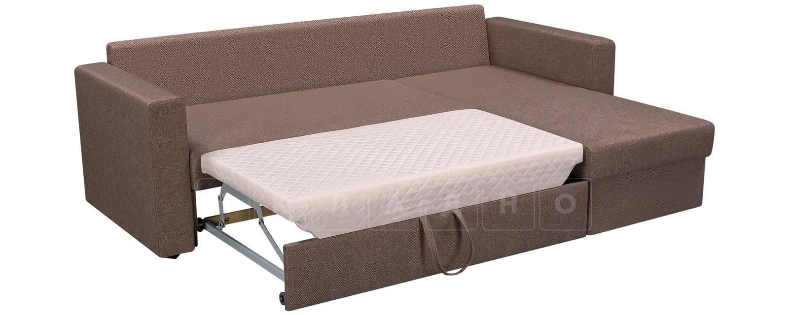 Угловой диван Турин коричневый фото 4 | интернет-магазин Складно