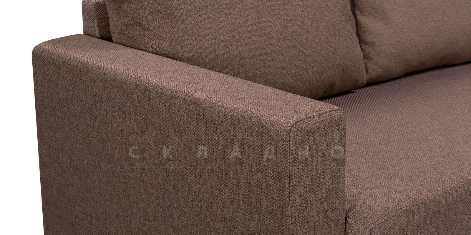 Угловой диван Турин коричневый фото 5 | интернет-магазин Складно