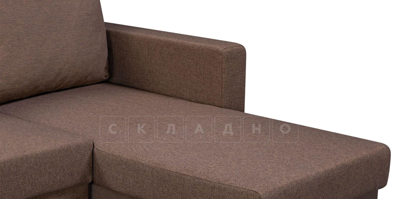 Угловой диван Турин коричневый фото 6 | интернет-магазин Складно
