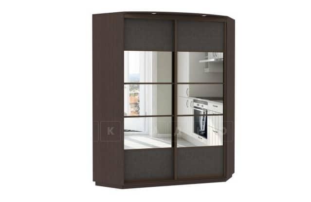 Угловой шкаф-купе двери с зеркалом экокожа фото 1 | интернет-магазин Складно