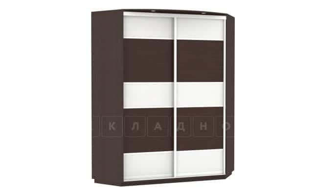 Угловой шкаф-купе двери со стеклом бамбук фото 1 | интернет-магазин Складно