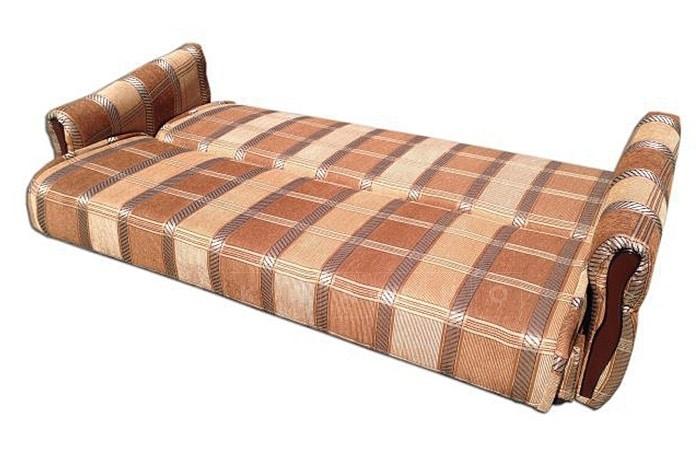 Диван-книжка Уют 120 пружинный коричневого цвета фото 2 | интернет-магазин Складно