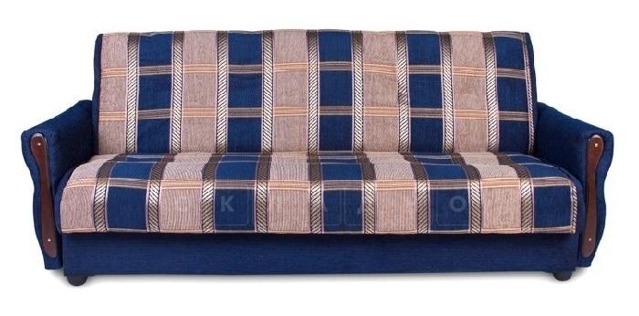 Диван-книжка Уют 140 поролоновый синего цвета фото 1 | интернет-магазин Складно