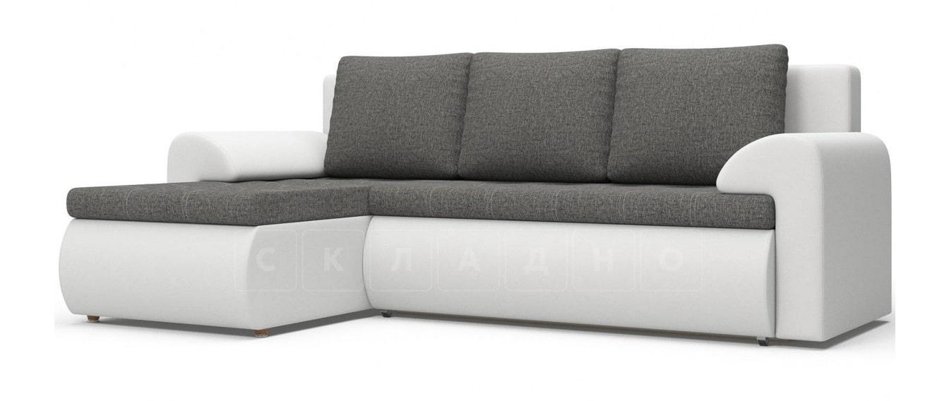 Угловой диван Цезарь белый левый фото 1   интернет-магазин Складно
