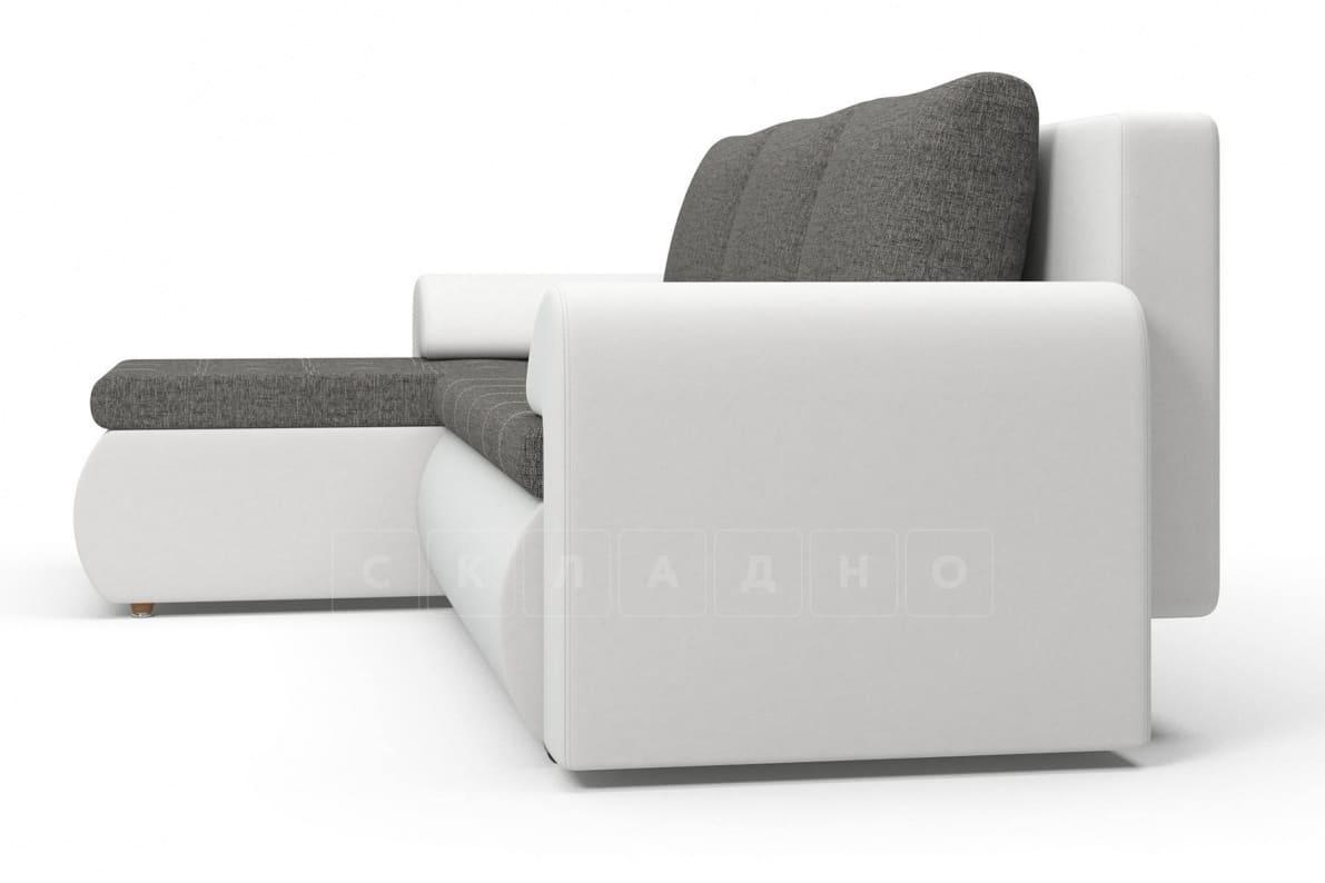 Угловой диван Цезарь белый левый фото 4   интернет-магазин Складно