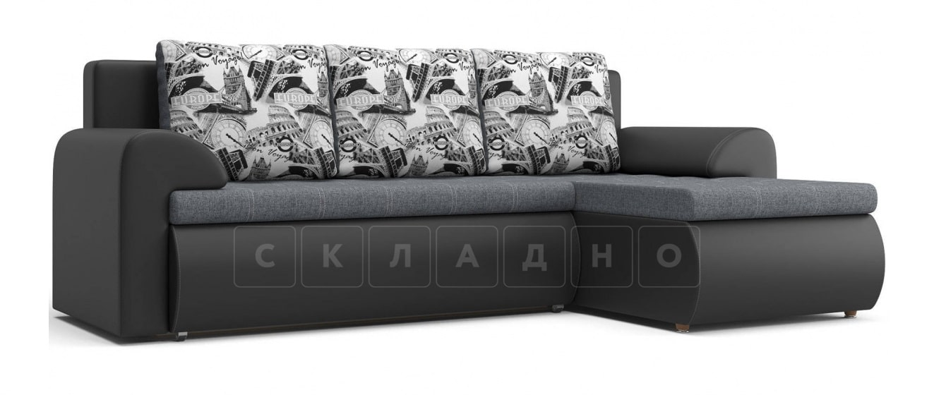 Угловой диван Цезарь темно-серый правый фото 1 | интернет-магазин Складно