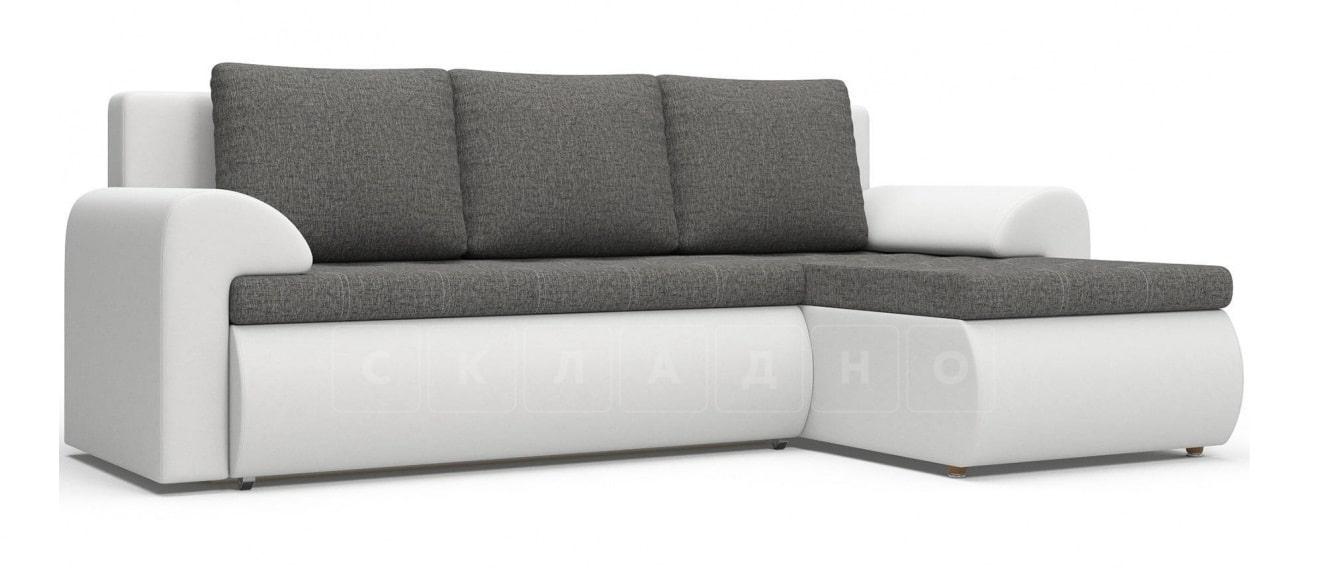 Угловой диван Цезарь белый правый фото 1 | интернет-магазин Складно