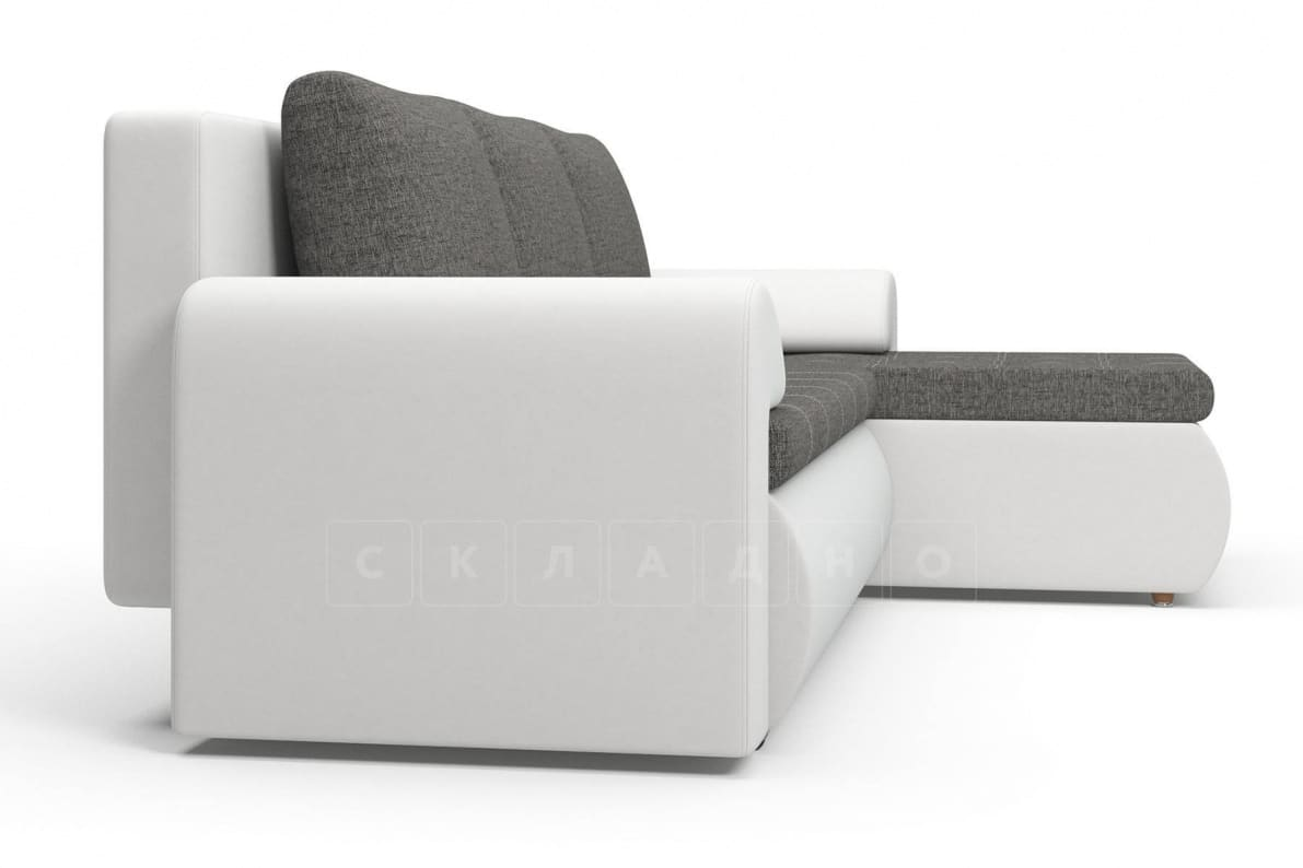 Угловой диван Цезарь белый правый фото 4 | интернет-магазин Складно