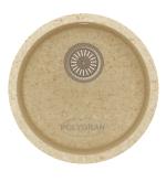 Кухонная мойка TOLERO R-104 кварцевая круглая фото | интернет-магазин Складно
