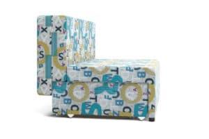 Детский диван Умка велюр голубой 10990 рублей, фото 4 | интернет-магазин Складно