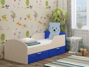 Детская кровать Бемби-5 с фотопечатью фото | интернет-магазин Складно