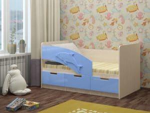 Детская кровать Дельфин-6 мдф 180см фото | интернет-магазин Складно