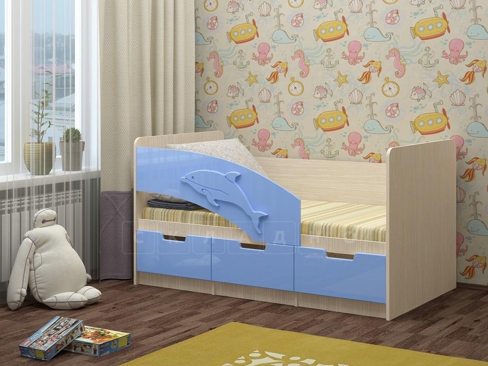 Детская кровать Дельфин-6 мдф 180см фото 1 | интернет-магазин Складно