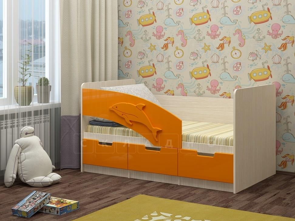 Детская кровать Дельфин-6 мдф 180см фото 5 | интернет-магазин Складно