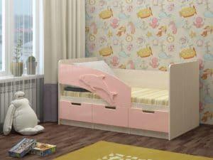 Детская кровать Дельфин-6 мдф 180см фото 2 | интернет-магазин Складно