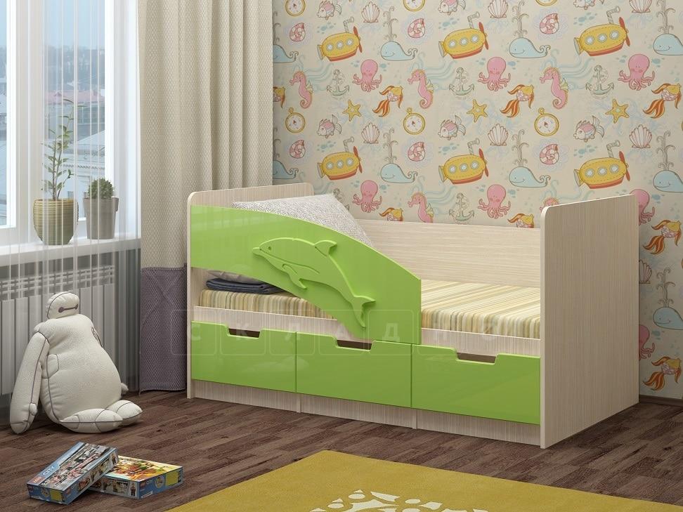 Детская кровать Дельфин-6 мдф 180см фото 6 | интернет-магазин Складно