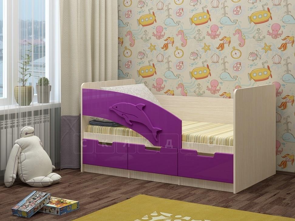 Детская кровать Дельфин-6 мдф 180см фото 7 | интернет-магазин Складно